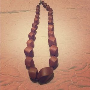 Beautiful wood necklace!